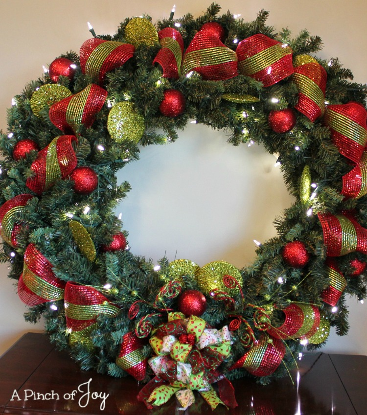 Finished Wreath -- A Pinch of Joy