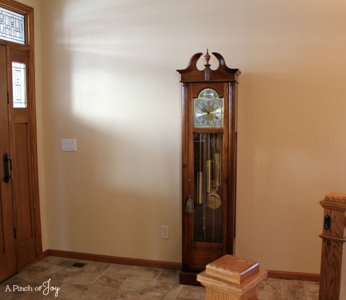 Grandfather Clock in front foyer - A Pinch of Joy