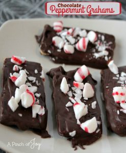 Chocolate Peppermint Grahams – No Bake Treat