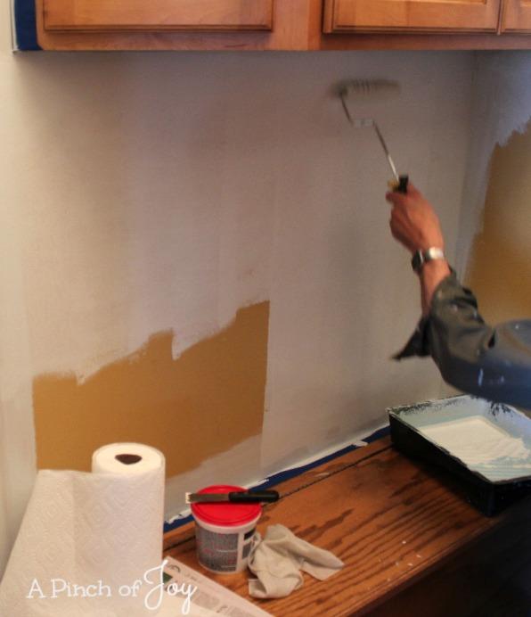 Mudroom gets a coat of primer