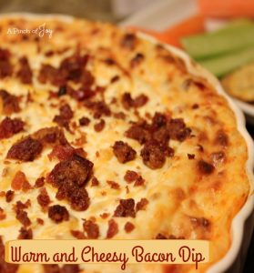 Warm and Cheesy Bacon Dip