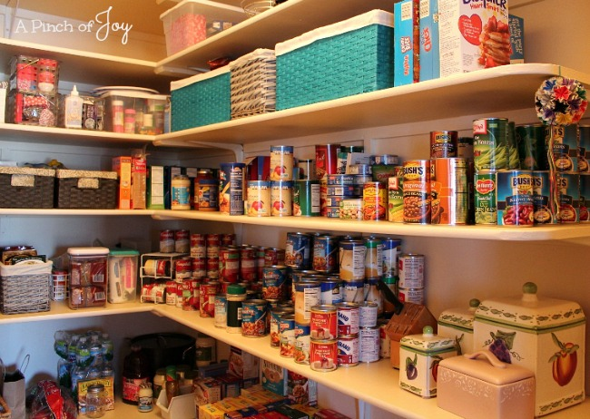 Organized Pantry -- A Pinch of Joy