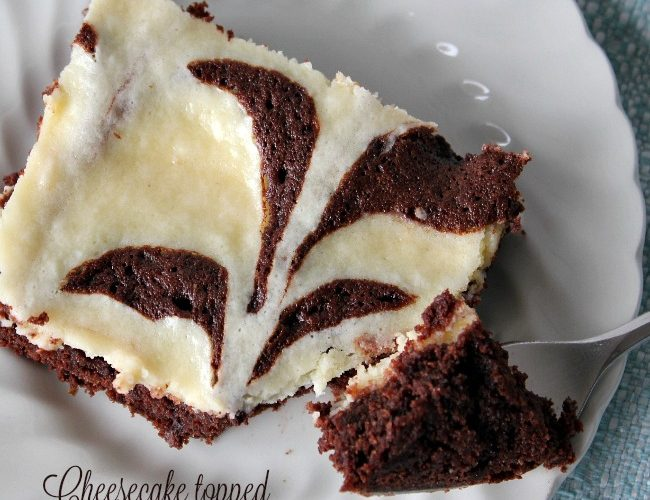 Cheesecake Topped Fudgy Brownies