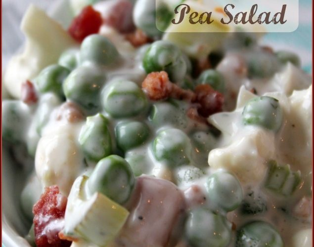 Crunchy Pea and Cauliflower Salad with Ranch Dressing