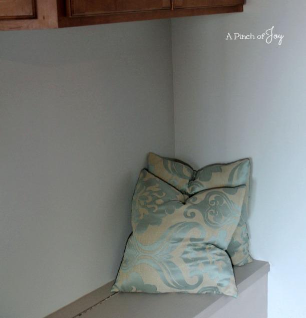 Cushions on Bench -- A Pinch of Joy