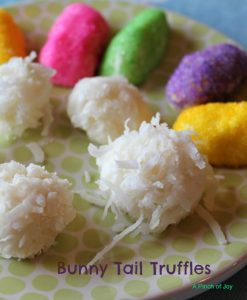 Bunny Tail Truffles -- A Pinch of Joy