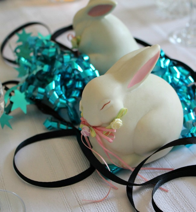Sleepy bunny centerpiece A Pinch of Joy