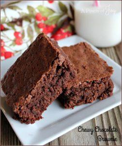 Chewy Chocolate Brownie -- A Pinch of Joy