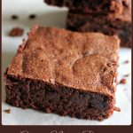 .Classic Naked Brownie - A Pinch of Joy