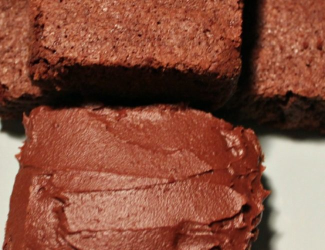 Old Fashioned Brownie with frosting
