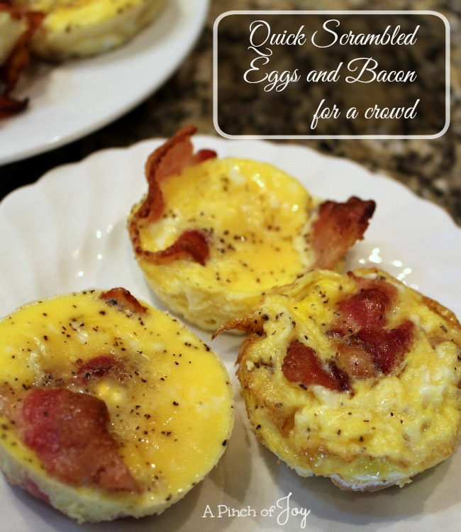 Quick Scrambled Eggs and Bacon for a Crowd -- A Pinch of Joy