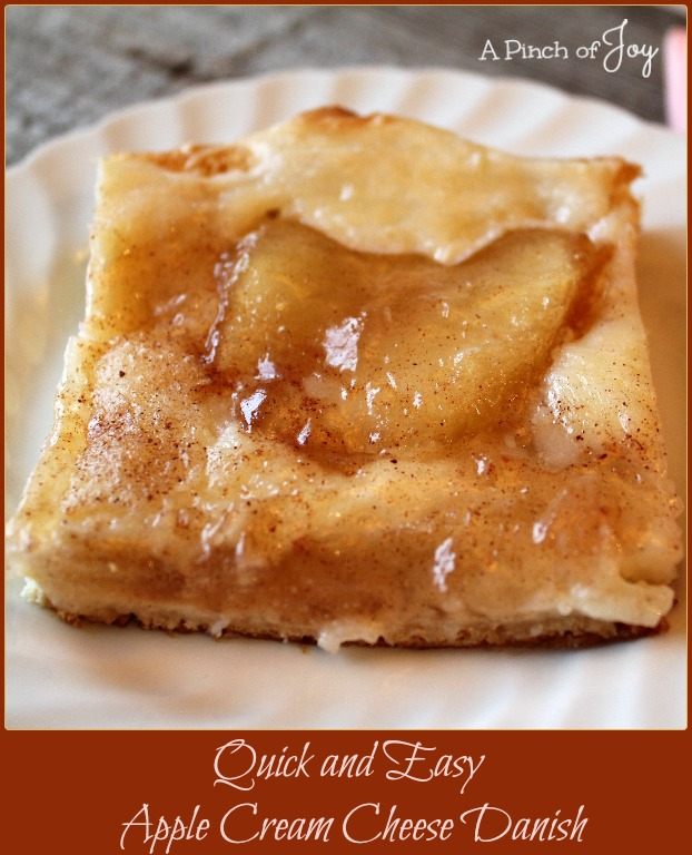 Quick and Easy Apple Cream Cheese Danish -- A Pinch of Joy