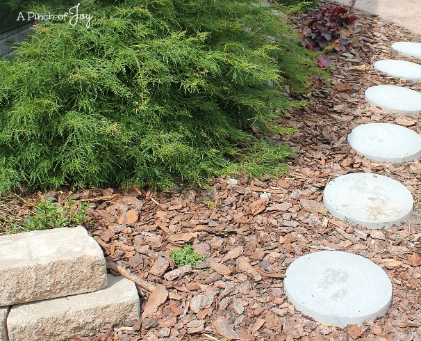 11Drainage wall and stepping stones -- A Pinch of Joy