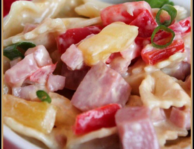 Aloha Pineapple and Ham Pasta Salad