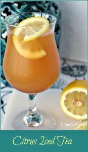 Citrus Iced Tea -- A Pinch of Joy