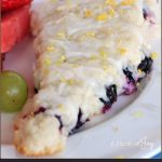 Lemon Blueberry Scones -- A Pinch of Joy