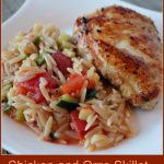 Chicken and Orzo Skillet -- A Pinch of Joy