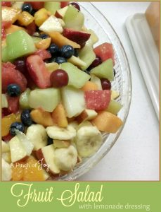 Fruit Salad with lemonade dressing