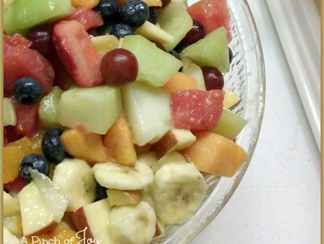 Fruit Salad with lemonade dressing