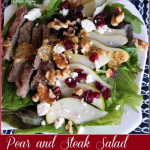 Pear and Steak Salad with honey mustard dressing -- A Pinch of Joy