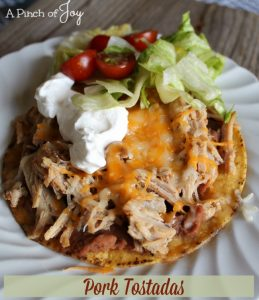 Pork Tostadas -- A Pinch of Joy.