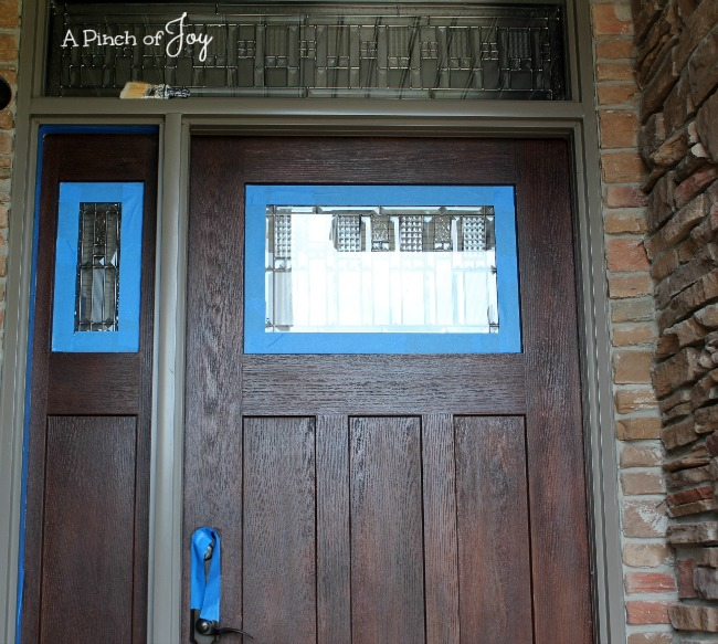 Front Door Makeover and the Five Stages of a DIY Project: Stage 2 Preparation -- A Pinch of Joy