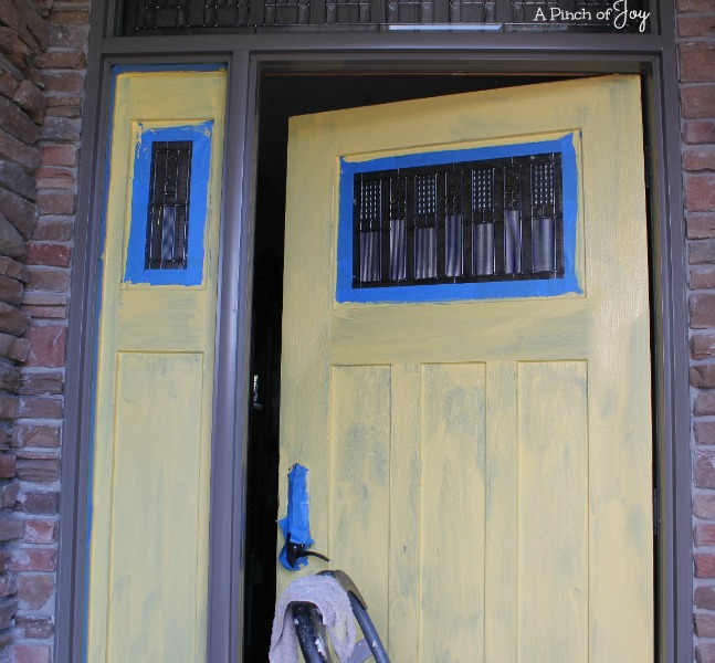 Front Door Makeover and the Five Stages of a DIY Project: Stage 4 - Hope-- A Pinch of Joy