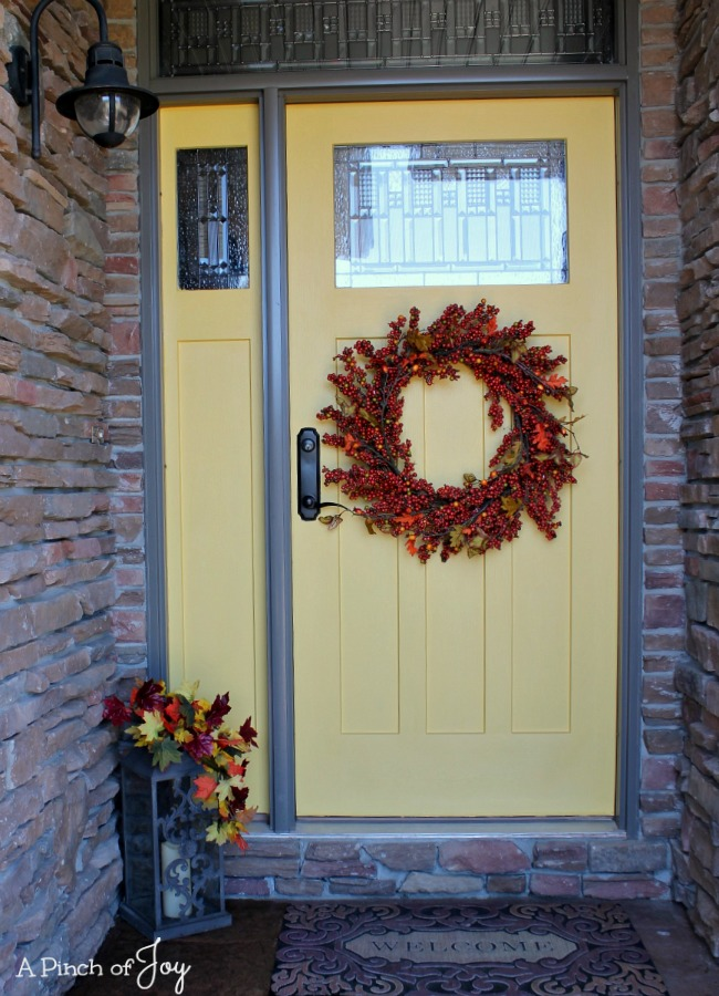 Front Door Makeover and the Five Stages of a DIY Project -- A Pinch of Joy