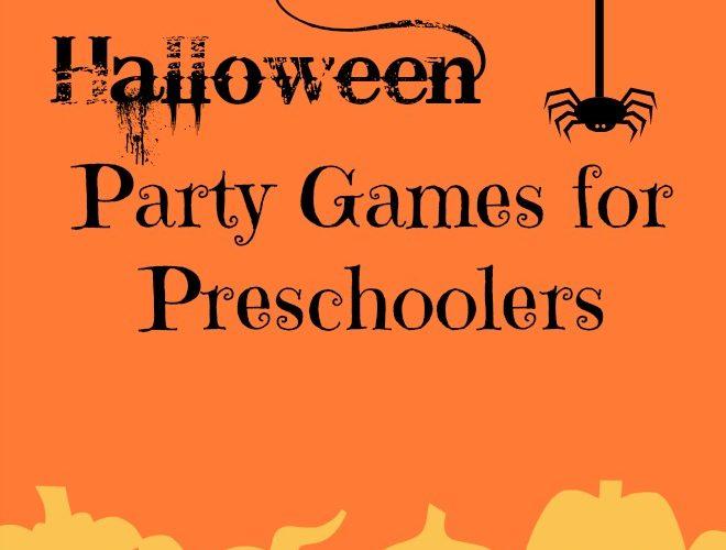 Halloween Party for Preschoolers:  Games