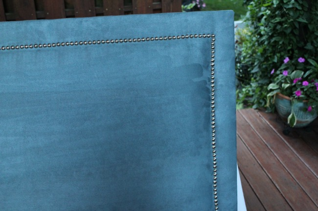 Close up of finished headboard