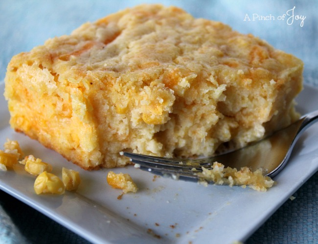 Corn Casserole - A Pinch of Joy