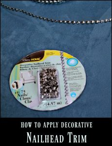 How to apply decorative nailhead trim