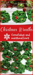 Christmas Wreath Candy – Cornflakes and Marshmallows