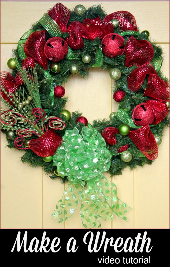 How to Make a Wreath: Video tutorial -- A Pinch of Joy