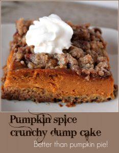 Pumpkin Spice Crunchy Dump Cake