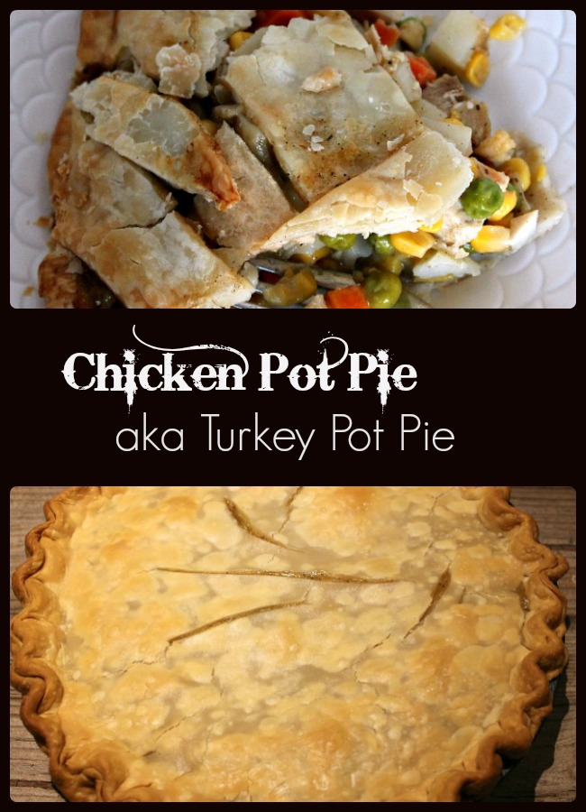 chicken-pot-pie aka turkey pot pie-a-pinch-of-joy Use holiday leftovers or start from scratch, pot pie is a filling comfort food.
