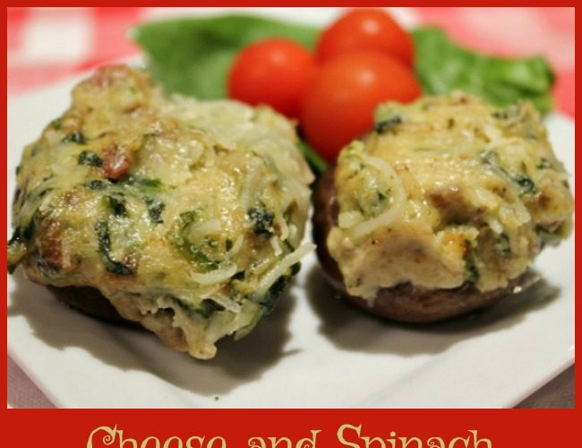 Cheese and Spinach Stuffed Mushrooms