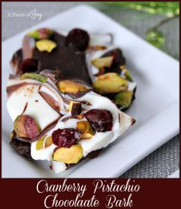 Cranberry Pistachio Chocolate Bark