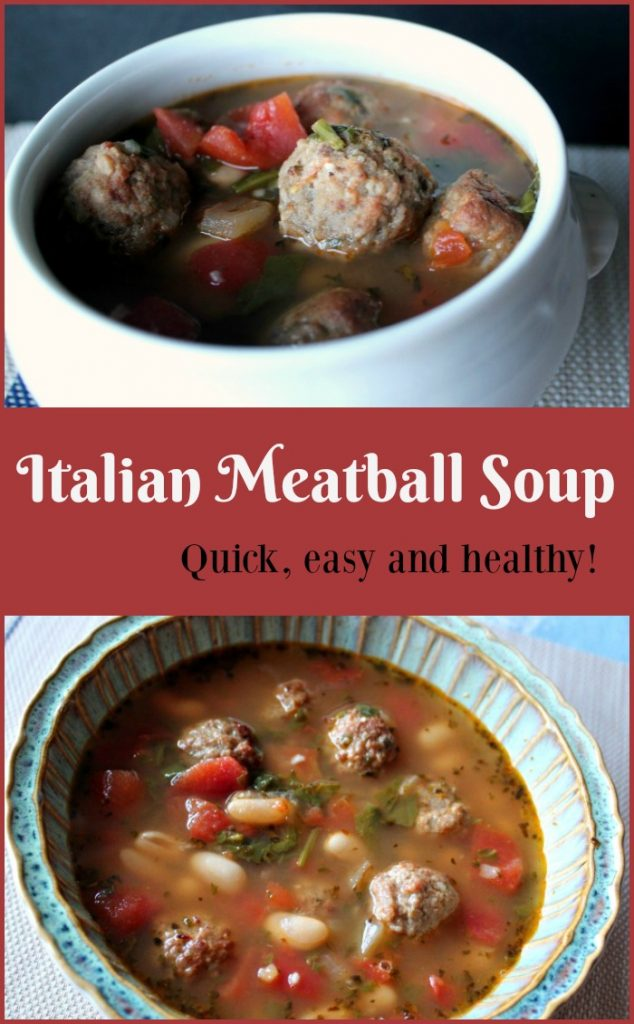 Italian Meatball Soup Quick and easy to make, good to eat and healthy! -- A Pinch of Joy