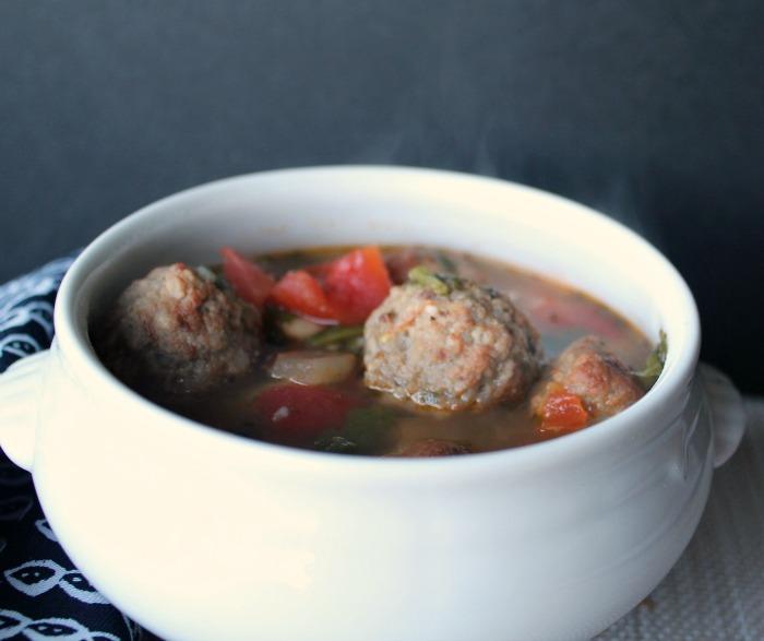 Italian Meatball Soup. -- A Pinch of Joy