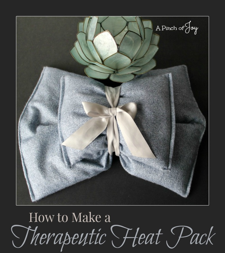 .How to Make a Therapeutic Heat Pack -- A Pinch of Joy
