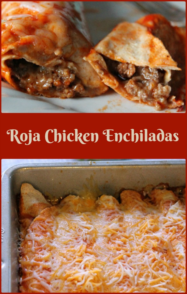Roja Chicken Enchiladas -- A Pinch of Joy