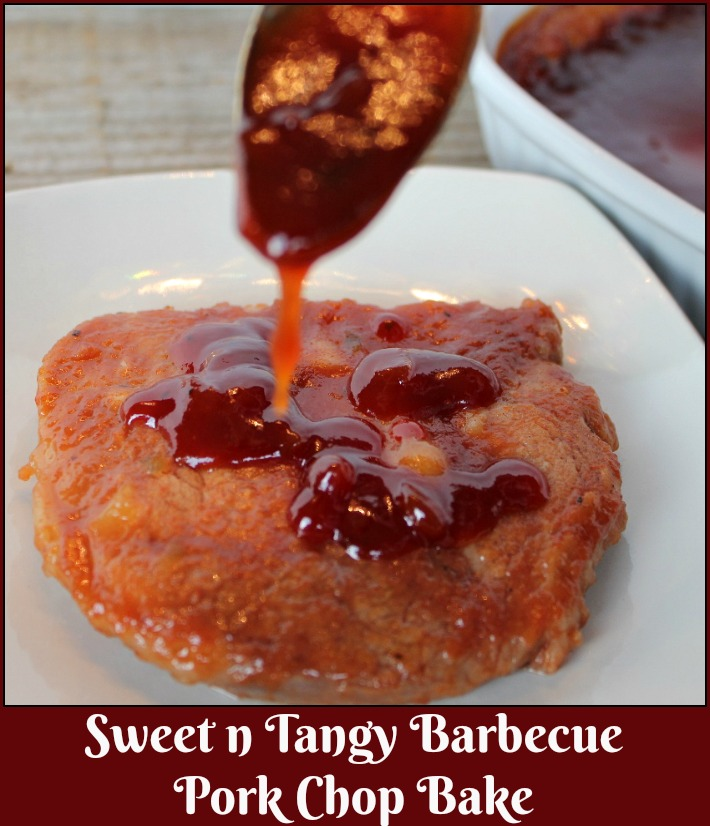Sweet n Tangy Barbecue Pork Chop Bake - A Pinch of Joy