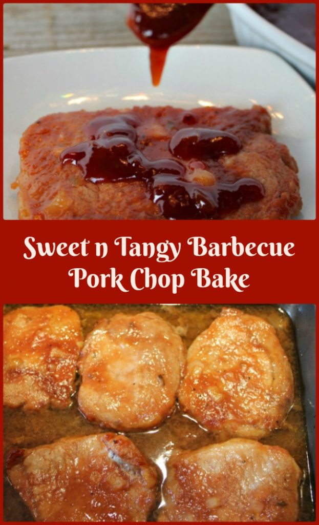 .Sweet n Tangy Barbecue Pork Chop Bake -- A Pinch of Joy