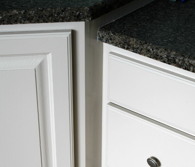 Master Bath cabinets from yellow oak to light gray