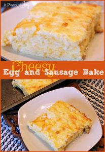 Cheesy Egg and Sausage Bake -- A Pinch of Joy Hearty, filling and delicious!