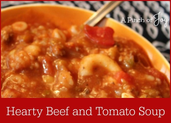 Hearty Beef and Tomato Soup