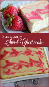 Strawberry Swirl Cheesecake -- A Pinch of Joy THE best cheesecake EVER!!!