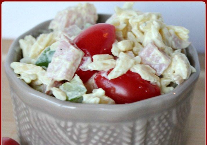 Ham and Orzo Salad