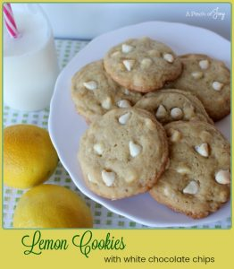 Lemon Cookies with White Chocolate Chips -- A Pinch of Joy